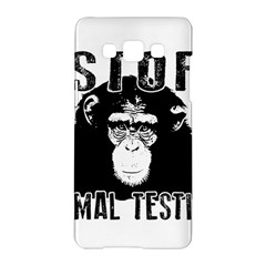 Stop Animal Testing   Chimpanzee  Samsung Galaxy A5 Hardshell Case  by Valentinaart