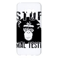Stop Animal Testing   Chimpanzee  Samsung Galaxy S8 Plus Hardshell Case  by Valentinaart