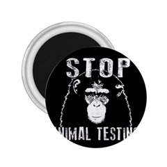 Stop Animal Testing   Chimpanzee  2 25  Magnets by Valentinaart