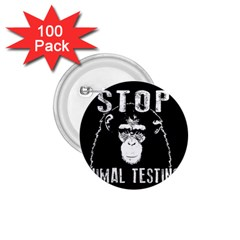Stop Animal Testing   Chimpanzee  1 75  Buttons (100 Pack)  by Valentinaart