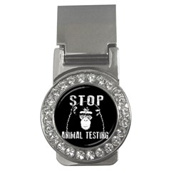 Stop Animal Testing   Chimpanzee  Money Clips (cz)  by Valentinaart