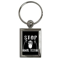 Stop Animal Testing   Chimpanzee  Key Chains (rectangle)  by Valentinaart