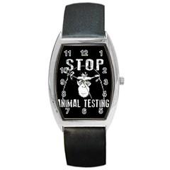 Stop Animal Testing   Chimpanzee  Barrel Style Metal Watch by Valentinaart