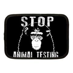 Stop Animal Testing   Chimpanzee  Netbook Case (medium)  by Valentinaart