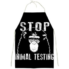 Stop Animal Testing   Chimpanzee  Full Print Aprons by Valentinaart