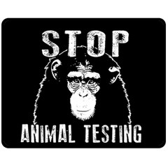 Stop Animal Testing   Chimpanzee  Fleece Blanket (medium)  by Valentinaart