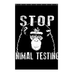 Stop Animal Testing   Chimpanzee  Shower Curtain 48  X 72  (small)  by Valentinaart