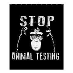 Stop Animal Testing   Chimpanzee  Shower Curtain 60  X 72  (medium)  by Valentinaart
