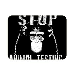 Stop Animal Testing   Chimpanzee  Double Sided Flano Blanket (mini)  by Valentinaart