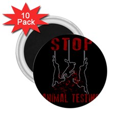 Stop Animal Testing   Rabbits  2 25  Magnets (10 Pack)  by Valentinaart