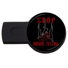 Stop Animal Testing   Rabbits  Usb Flash Drive Round (2 Gb) by Valentinaart