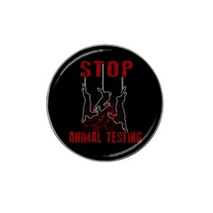 Stop Animal Testing   Rabbits  Hat Clip Ball Marker (4 Pack) by Valentinaart