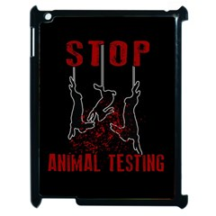 Stop Animal Testing   Rabbits  Apple Ipad 2 Case (black) by Valentinaart