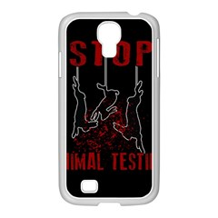Stop Animal Testing   Rabbits  Samsung Galaxy S4 I9500/ I9505 Case (white) by Valentinaart
