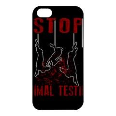 Stop Animal Testing   Rabbits  Apple Iphone 5c Hardshell Case by Valentinaart