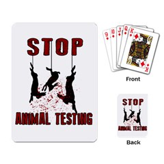 Stop Animal Testing   Rabbits  Playing Card by Valentinaart