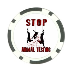Stop Animal Testing   Rabbits  Poker Chip Card Guard by Valentinaart