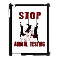 Stop Animal Testing   Rabbits  Apple Ipad 3/4 Case (black) by Valentinaart