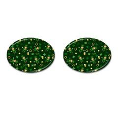 St Patricks Day Pattern Cufflinks (oval) by Valentinaart