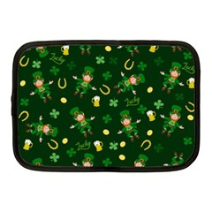 St Patricks Day Pattern Netbook Case (medium)  by Valentinaart