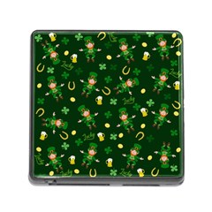 St Patricks Day Pattern Memory Card Reader (square)