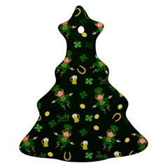 St Patricks Day Pattern Ornament (christmas Tree)  by Valentinaart