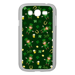 St Patricks Day Pattern Samsung Galaxy Grand Duos I9082 Case (white) by Valentinaart