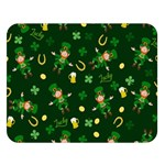 St Patricks day pattern Double Sided Flano Blanket (Large)  80 x60 Blanket Front