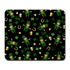 St Patricks Day Pattern Large Mousepads by Valentinaart