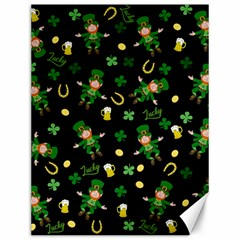 St Patricks Day Pattern Canvas 12  X 16   by Valentinaart