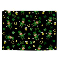 St Patricks Day Pattern Cosmetic Bag (xxl)  by Valentinaart
