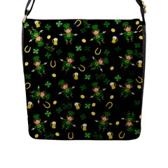 St Patricks Day Pattern Flap Messenger Bag (l)  by Valentinaart