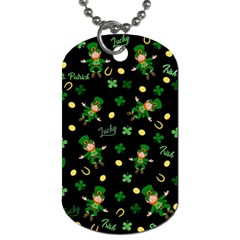 St Patricks Day Pattern Dog Tag (two Sides) by Valentinaart