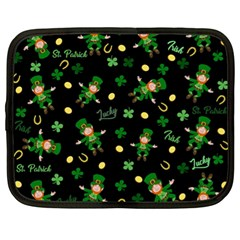 St Patricks Day Pattern Netbook Case (xl)  by Valentinaart