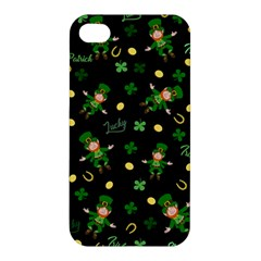 St Patricks Day Pattern Apple Iphone 4/4s Premium Hardshell Case by Valentinaart