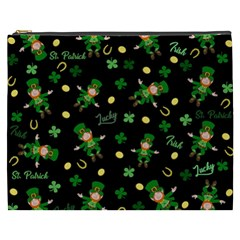 St Patricks Day Pattern Cosmetic Bag (xxxl)  by Valentinaart