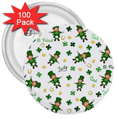 St Patricks Day Pattern 3  Buttons (100 Pack)  by Valentinaart