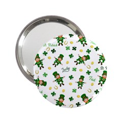 St Patricks Day Pattern 2 25  Handbag Mirrors