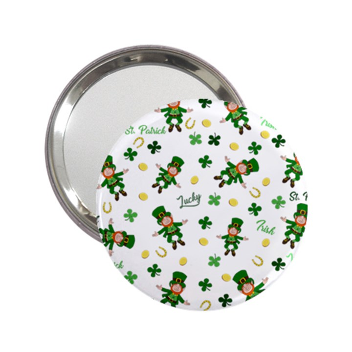 St Patricks day pattern 2.25  Handbag Mirrors