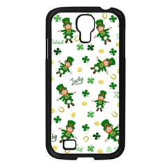 St Patricks Day Pattern Samsung Galaxy S4 I9500/ I9505 Case (black) by Valentinaart