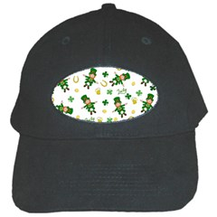 St Patricks Day Pattern Black Cap by Valentinaart