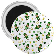 St Patricks Day Pattern 3  Magnets by Valentinaart