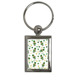 St Patricks Day Pattern Key Chains (rectangle)  by Valentinaart