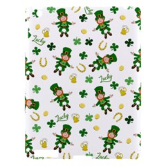 St Patricks Day Pattern Apple Ipad 3/4 Hardshell Case by Valentinaart