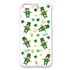 St Patricks Day Pattern Apple Iphone 6 Plus/6s Plus Enamel White Case by Valentinaart