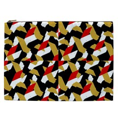 Colorful Abstract Pattern Cosmetic Bag (xxl)  by dflcprints