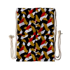 Colorful Abstract Pattern Drawstring Bag (small) by dflcprints
