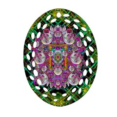 The Most Beautiful Planet Is Earth On The Sky Oval Filigree Ornament (two Sides) by pepitasart
