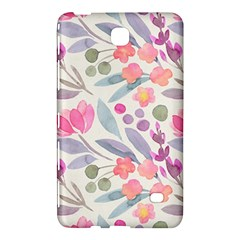 Purple And Pink Cute Floral Pattern Samsung Galaxy Tab 4 (7 ) Hardshell Case