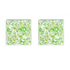Light Floral Collage  Cufflinks (square) by dflcprints